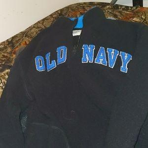 Kids old Navy pull over fleece 1/2 zip serpa